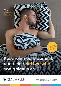 Kuscheln noch: Dominik und seine Bettwäsche von galaxus.ch. #GalaxusLive #Galaxus