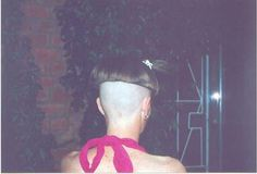 High shaved nape with ragged bowl cut.