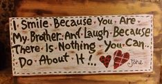 Smile Because, Wooden Signs, Home Decor, Wooden Plaques, Decoration Home, Room Decor, Wood Signs, Home Interior Design, Home Decoration