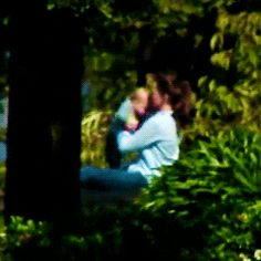 Princess Kate playing with Prince George on a rare day off from the Royal Tour 2014 April