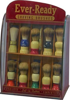 Ever-Ready Shaving Brushes in display box