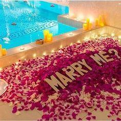 Marry me ? Cute Proposal Ideas, Romantic Proposal, Romantic Room, Perfect Proposal, Romantic Ideas, Romantic Candles, Wedding Proposals, Marriage Proposals, Let's Get Married