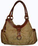 Women's Chaps Purse Handbag Milano Khaki