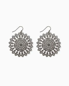 charming charlie   Daisy Doily Earrings   UPC: 410007005333 #charmingcharlie