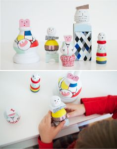 wood-doll-family-portrait3. cute diy from one more mushroom