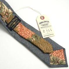 General Knot & Co. Chambray & 1950s Arthouse Mums Necktie