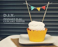 How To: DIY Cupcake Topper with Washi Tape | Dress My Cupcake Blog