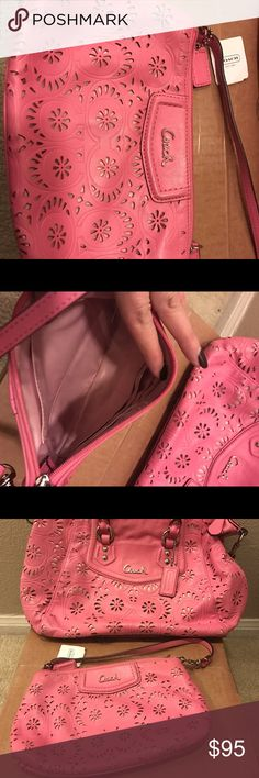 Wrist Wrist purse ash lac leather wrist Coach Bags Clutches & Wristlets