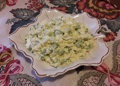 Салат. Яйца с зелёным луком. | Рецепты из холодильника