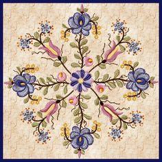 Modern take on Matyo embroidery
