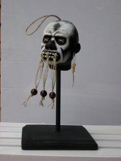 Shrunken Head Voodoo Witch Doctor Replica by captainbloodpirate, $100.00