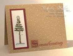 Simple Christmas tree by SophieLaFontaine - Cards and Paper Crafts at Splitcoaststampers