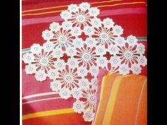 ▶ Patrón Para tejer Carpeta/tapete con flores a crochet - YouTube
