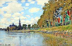 Zaandam, 1871 by Claude Monet. Impressionism. cityscape
