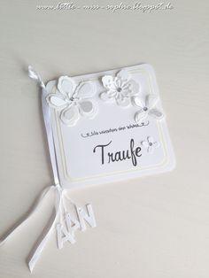 Little-Miss-Sophie / Stampin up! Traufe! Es wurde eine Karte gewünscht für Hochzeit UND Taufe, Traufe eben! Da wollte ich was schlichtes, mit kleinem Farbakzent durch das hellgelbe Papier als Rahmen!
