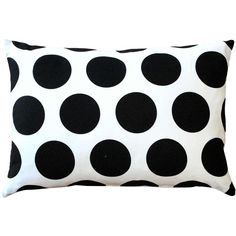 Pillow Decor Dots and Stripes Throw Pillow 12x18 found on Polyvore