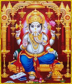 In Sanskrit: 'Shuklaambara Dharam Vishnum Shashi Varnam Chatur Bhujam Prasanna Vadanam Dhyaayet Sarva Vighna Upashaanthaye.'  -- Meaning: We meditate on Lord Ganesha - who is clad in white (representing purity), who is all pervading (present everywhere), whose complexion is gray like that of ash (glowing with spiritual splendor), who has four arms, who has bright countenance (depicting inner calm and happiness) and who can destroy all obstacles (in our spiritual and worldly path).