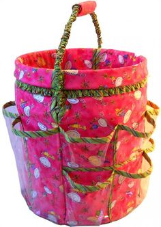 Sewing pattern for converting a 5 gallon bucket into an organizer. Solution for kids' art supplies and coloring books?