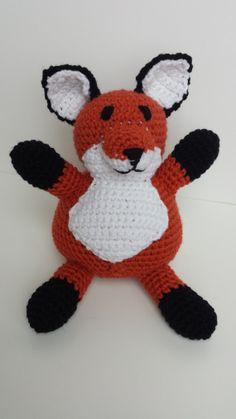 Crocheted Fox by MegsMinions on Etsy, $30.00