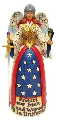 Jim Shore Heartwood Creek Military Angel Figurine