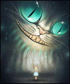 Chesire cat and alice in wonderland Lewis Carroll, Disney Kunst, Arte Disney, Disney Art, Chesire Cat, Cheshire Cat Drawing, Alice Madness, Art Et Illustration, Adventures In Wonderland