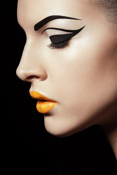 """""""Black and Yellow"""" for Institutemag on Makeup Arts Served"""
