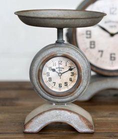 Farmhouse Kitchen Scale Clock - Marmalade Mercantile