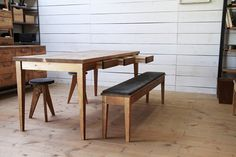 ≪dining set≫ 無垢 ダイニングセット(ダイニングテーブル・ベンチ・スツール2台)