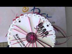 Pulsera de corazones con disco Kumihimo redondo. Ideal San Valentín. - YouTube