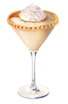 Pinnacle Pumpkin Pie Vodka: • Spiced Pumpkin     2 parts Pinnacle® Pumpkin Pie Vodka     1 part Irish Cream     Splash Half & Half     Shake with ice, strain into a cinnamon sugar rimmed martini glass, and garnish with a cherry.