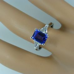 The most Beautiful Tanzanite & Diamond Ring * * * * * from britishvintage on Ruby Lane