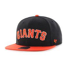 07889e313f1 San Francisco Giants Script Side Two Tone Captain Black 47 Brand Adjustable  Hat
