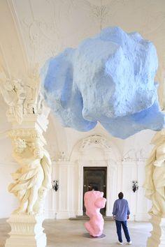 Autriche, Vienne, palais du Belvédère du XVIIIe siècle avec sculptures modernes de Franz West © Ludovic Maisant