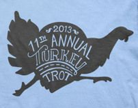 Turkey Trot 2013 t-shirt design with hand-lettering