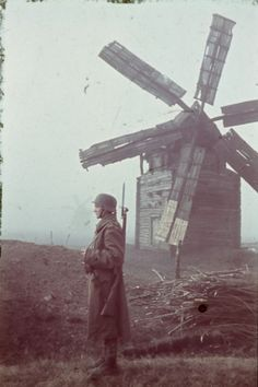 Hungarian watchmaker at the mill on the Eastern Front, location unknown,1942 - pin by Paolo Marzioli