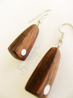 WOODEN EARRINGS  Original Handmade Wooden by BrandiyskiWOODENART, €23,00