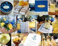 mariage-jaune-bleu-marine MG Evénements Ile de Ré