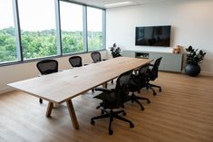 danish style boardroom table in walnut Ikea Hack Besta, Ikea Hacks, Workplace Design, Home Office Design, Danish Style, Danish Furniture, Kitchen On A Budget, Common Area, Commercial Interiors