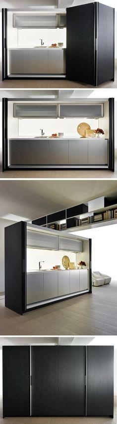 Hideaway linear #kitchen TIVALÌ by DADA | #design Dante Bonuccelli @Molteni&C Dada