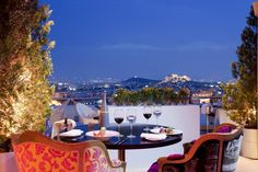 Athens is not only a city full of history, but it is also a city with a vibrant night scene. Read moreBest Rooftop Bars Of Athens Athens Hotel, Athens Greece, Greece Vacation, Greece Travel, Greece Trip, Santorini Grecia, Santorini 2017, Bar A Vin, Restaurants