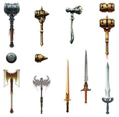2-handed Weapon Designs from Dragon Age: Origins