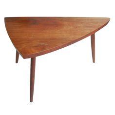 USA. George Nakashima triangular occasional table. 1950s. h21w34d18