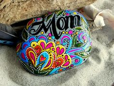 I love you Mom / Painted Rock / Sandi Pike by LoveFromCapeCod, $46.00