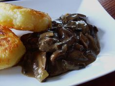 Excellent sauce with fresh forest mushrooms