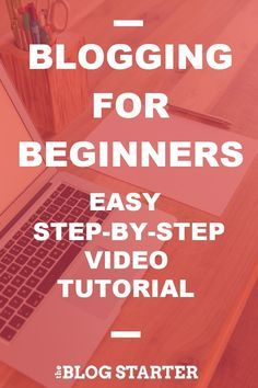 Easy free video guide to starting a blog for beginners https://www.youtube.com/watch?v=FDZ7xhArTr4