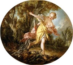 Story of Aminta and Sylvia - Sylvia Fleeing the Wounded Wolf - François Boucher - 1756