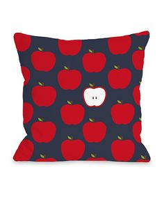This Apple Throw Pillow is perfect! #zulilyfinds