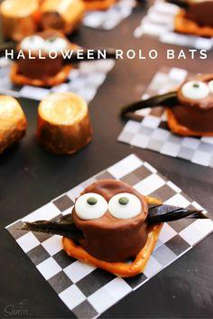 Halloween Rolo Bats