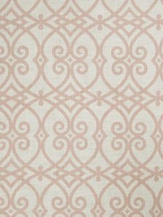 Gatework print pattern 02616 in Blush from the Jaclyn Smith Home - Volume III collection for Trend.