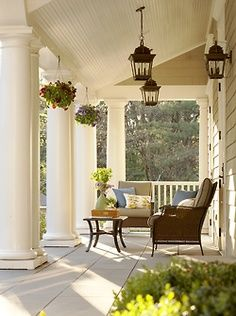 veranda southern living rooms - Google Search